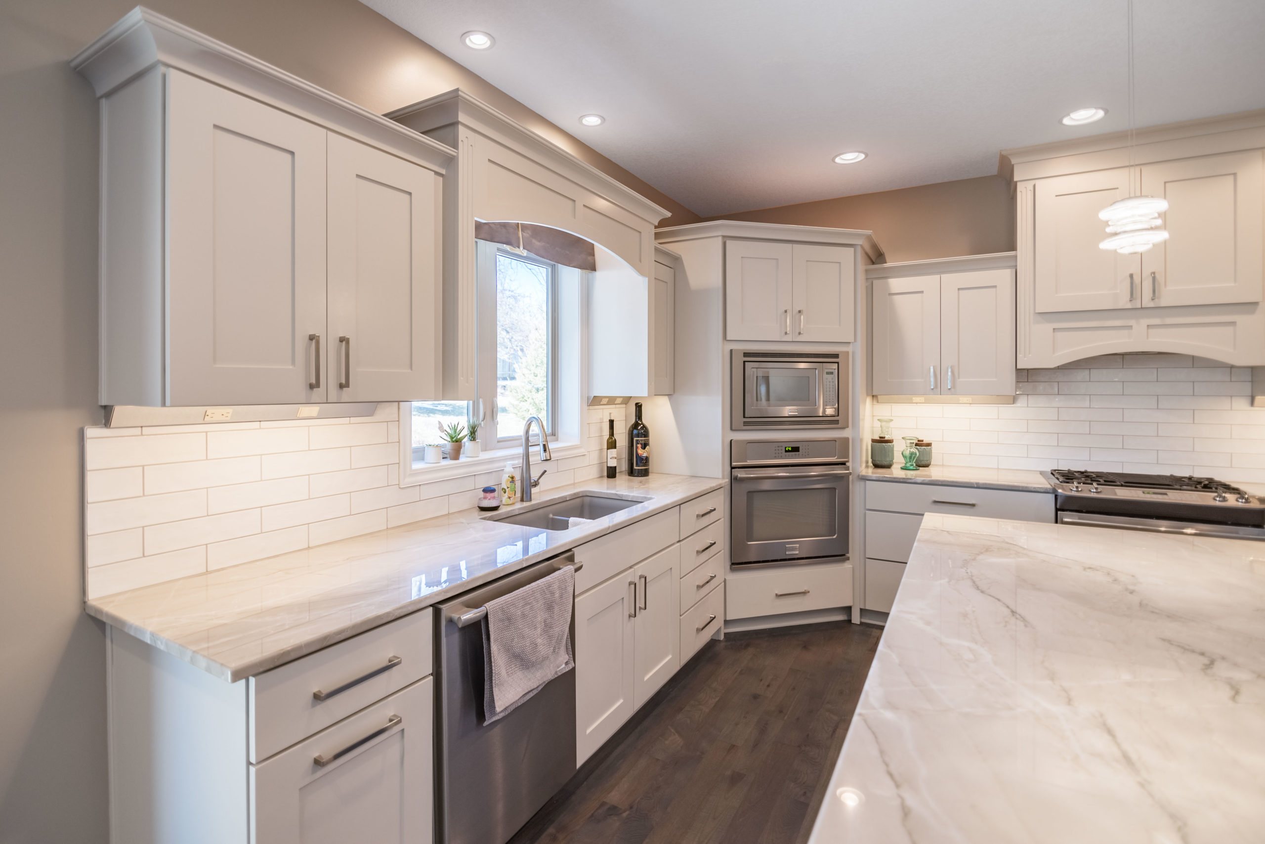 painted residential kitchen