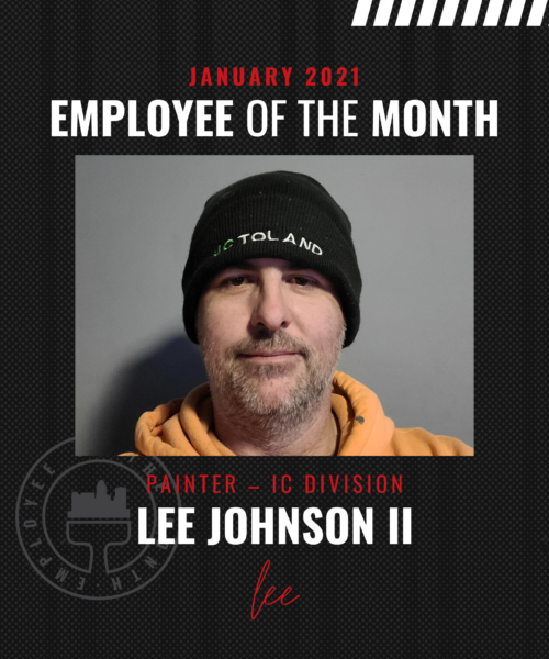 Lee Johnson II– January Employee of the Month